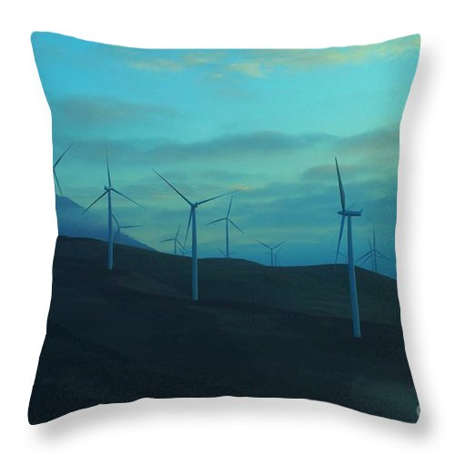 Wind Throw Pillow featuring the photograph The Promise Of Wind by Jeff Swan