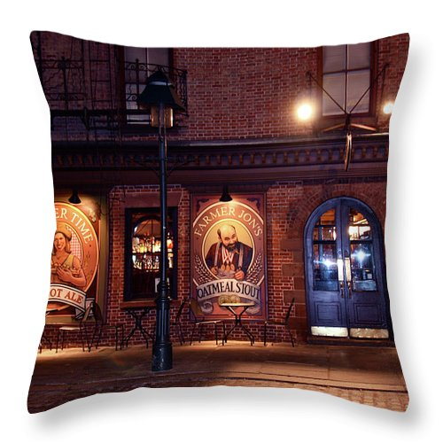 Pub Throw Pillow featuring the photograph The Pub by Terry Wallace