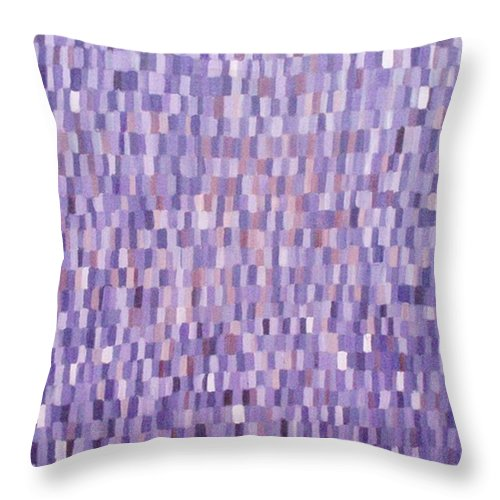 Monochromatic Painting Throw Pillow featuring the painting The Purple One by Patrice Tullai