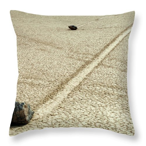 Death Valley Throw Pillow featuring the photograph The Racetrack 7 by Bob Christopher