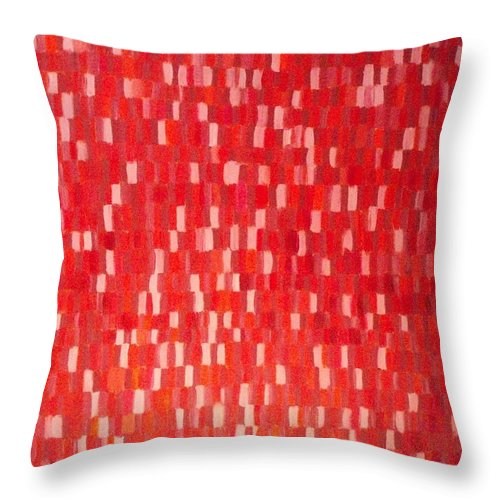 Red Painting Throw Pillow featuring the painting The Red One by Patrice Tullai