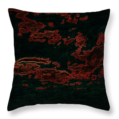 Abstract Throw Pillow featuring the photograph The Road Runner by Travis Crockart