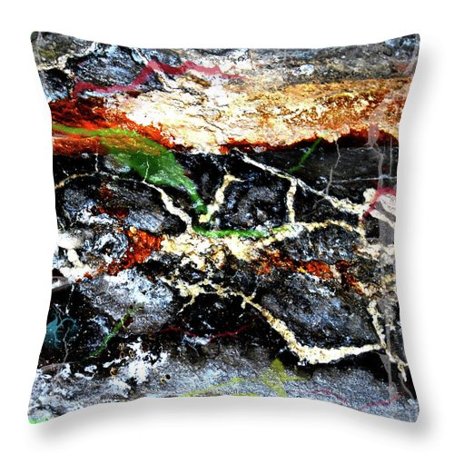 Rural Throw Pillow featuring the photograph The Rock by The Artist Project