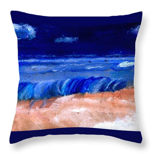 Ocean Throw Pillow featuring the painting The Sea by Melvin Moon