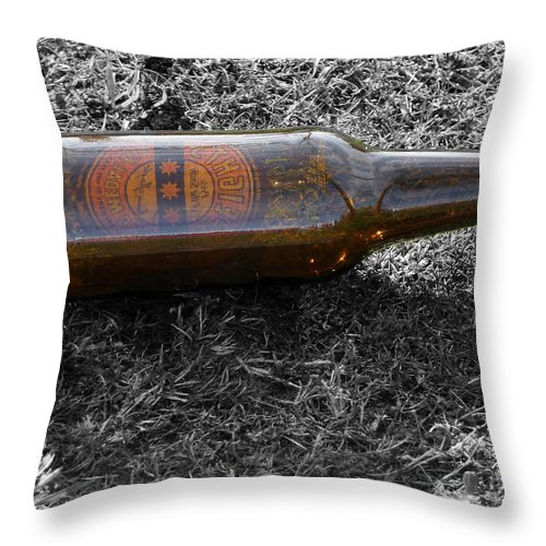 Beer Throw Pillow featuring the photograph The Self Portrait by Steve Taylor