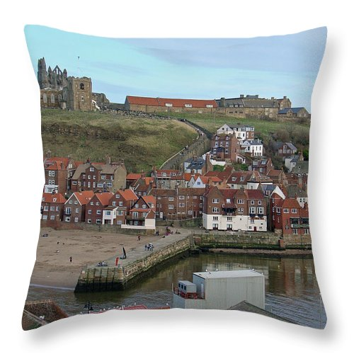 Sky Throw Pillow featuring the photograph The Shambles - Whitby by Rod Johnson