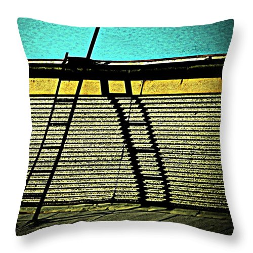 Urban Throw Pillow featuring the photograph The Sky Is The Limit by Chris Berry