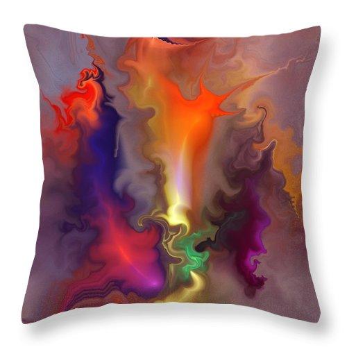 Fine Art Throw Pillow featuring the digital art The Source by David Lane