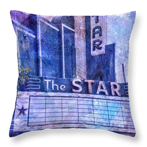 The Star Throw Pillow featuring the photograph The Star by Dominic Piperata