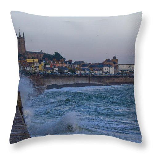 Penzance Throw Pillow featuring the photograph The Start Of Winter by Brian Roscorla