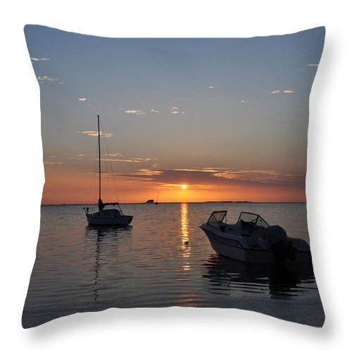 The Still Of The Night Throw Pillow featuring the photograph The Still Of The Night by Bill Cannon