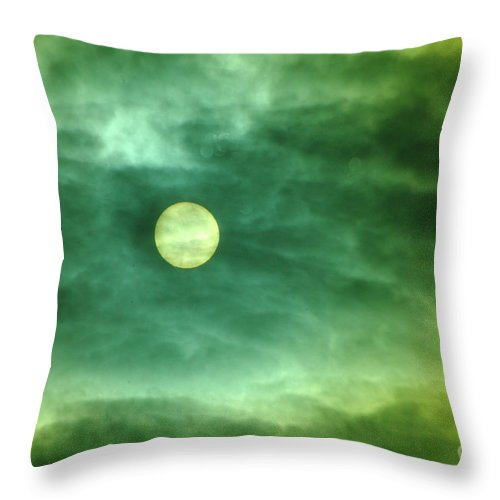 Sun Throw Pillow featuring the photograph The Sun Through Clouds by Jeff Swan