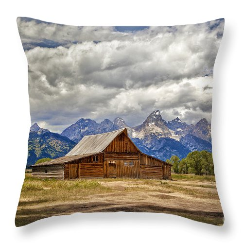 2012 Throw Pillow featuring the photograph The T. A. Moulton Barn In Grand Teton National Park by Matt Suess