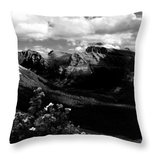 Snow Throw Pillow featuring the photograph The Valley by Joseph Noonan