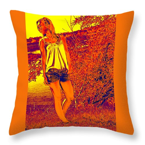 Beautiful Throw Pillow featuring the photograph The Walk by Charles Benavidez