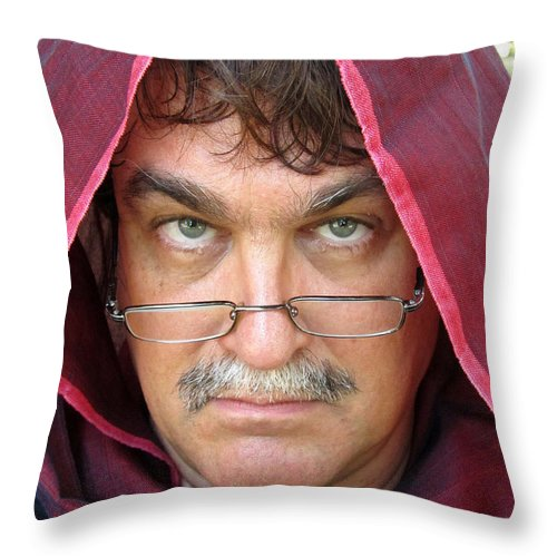 Face Throw Pillow featuring the photograph The Wanderer by Mark Sellers