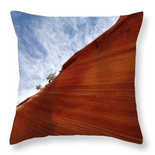 The Wave Throw Pillow featuring the photograph The Wave A Bit Of Heaven by Bob Christopher