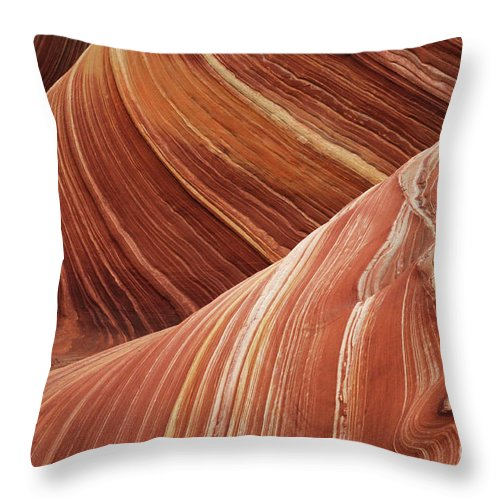 The Wave Throw Pillow featuring the photograph The Wave Sandstone Magic by Bob Christopher