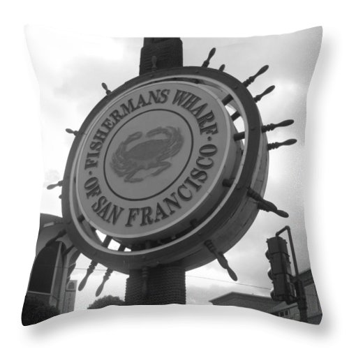 Fisherman's Wharf Throw Pillow featuring the photograph The Wharf by Caroline Lomeli