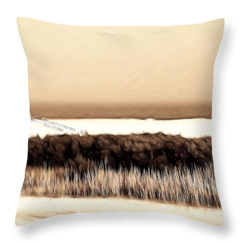 Wildwood Throw Pillow featuring the photograph The Wildwoods by Thomas MacPherson Jr