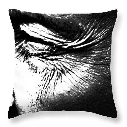 Black And White World Photographer Throw Pillow featuring the photograph The Wince Of Wonder by The Artist Project