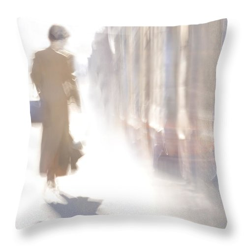 Girl Throw Pillow featuring the photograph The Woman-riddle by larisa Fedotova