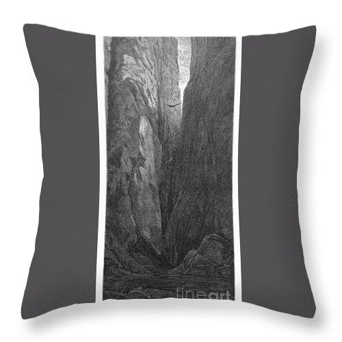 1872 Throw Pillow featuring the photograph The Yellowstone by Granger