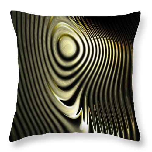 Digital Art Throw Pillow featuring the digital art The Zebra by Amanda Moore