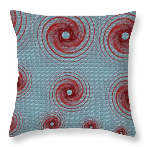 Fractals Throw Pillow featuring the digital art There Were 13 by Betsy Knapp