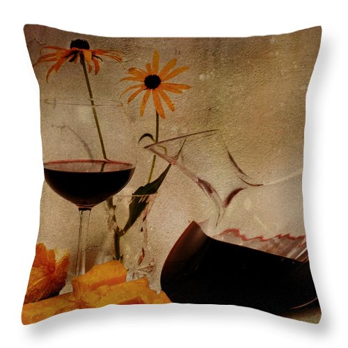 Wine Throw Pillow featuring the photograph These Are A Few Of My Favorite Things by Robin Webster