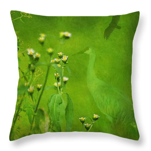 Photography Throw Pillow featuring the photograph Think Green by Vicki Pelham
