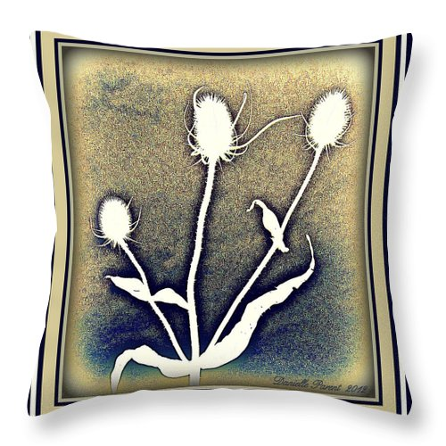 Blue Color Photographs Throw Pillow featuring the photograph Thistles Grouping by Danielle Parent