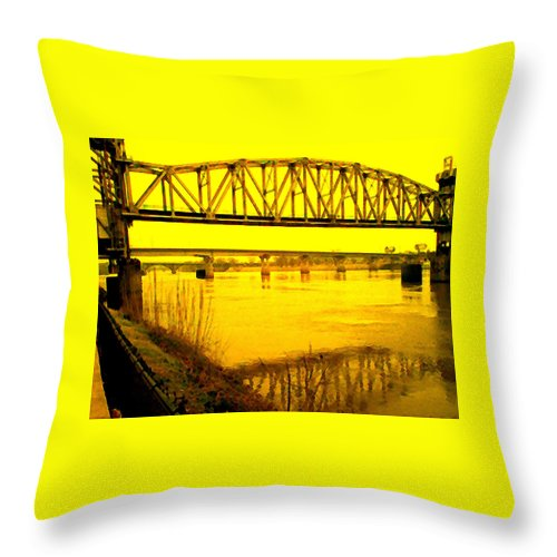 Bridges Throw Pillow featuring the photograph Three Bridges by Nina Fosdick