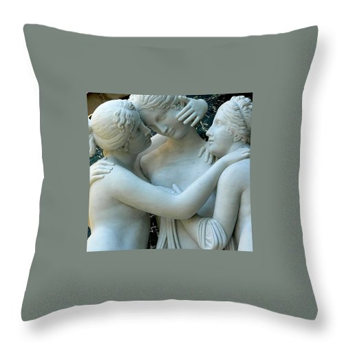 Nude Throw Pillow featuring the photograph Three Graces by Jeff Lowe