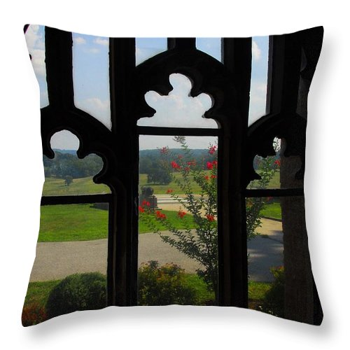 Chapel Throw Pillow featuring the photograph Through The Chapel Arches by Cindy Manero