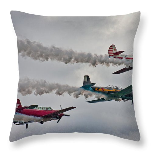 Airplane Throw Pillow featuring the photograph Thunder by Betsy Knapp