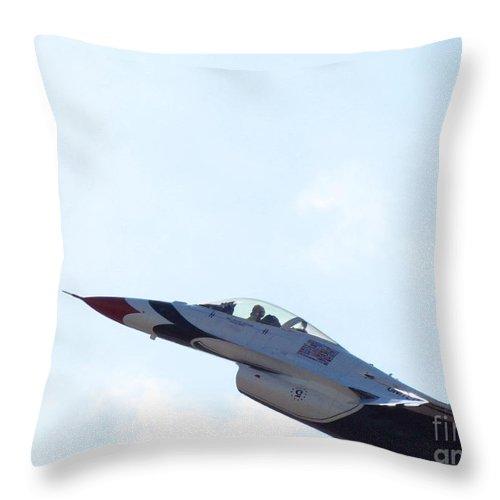 Thunderbird Throw Pillow featuring the photograph Thunderbird by Elizabeth Harshman