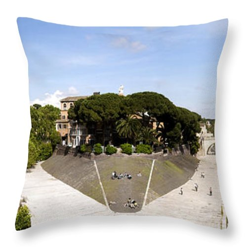 Rome Throw Pillow featuring the photograph Tiber Island by Fabrizio Troiani