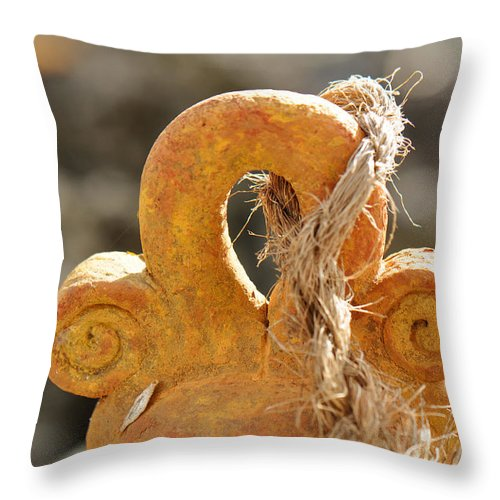 Bell Throw Pillow featuring the photograph Tie That Binds Us by Christine Stonebridge