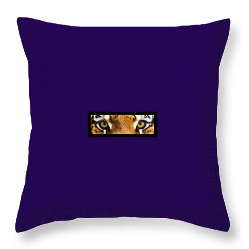 Eyes Throw Pillow featuring the photograph Tiger Eyes by Sumit Mehndiratta