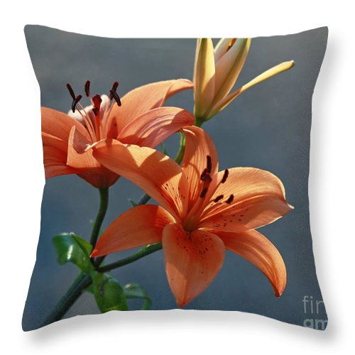 Lily Throw Pillow featuring the photograph Tiger Lily Splendor by Inspired Nature Photography Fine Art Photography