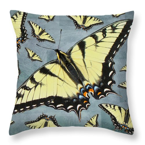 Butterfly Throw Pillow featuring the photograph Tiger Swallowtail Butterfly by Mother Nature