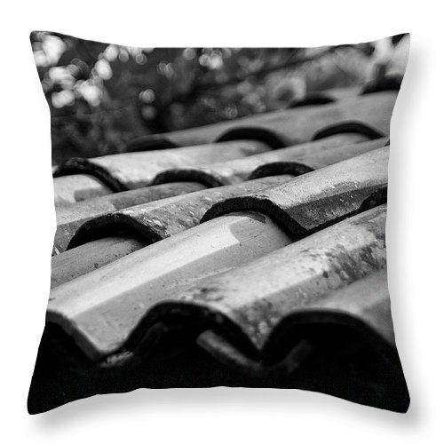 Tiles Throw Pillow featuring the photograph Tiles Details by David Resnikoff