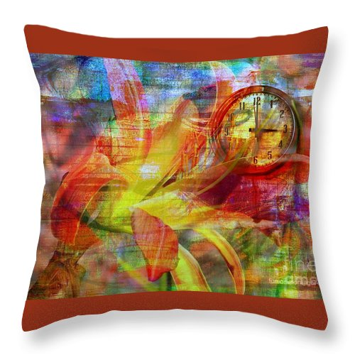 Faniart Faniart Africa America Tableau Sable Woman Femme Abstract Yesayah Fanou Africa West Afrique Canvas Display Image Dance Outdoors Passion Imagination Goree Island Exhibit Throw Pillow featuring the mixed media Time To Grow by Fania Simon