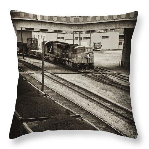 Train Throw Pillow featuring the photograph Tinted Train by Sheri Bartoszek