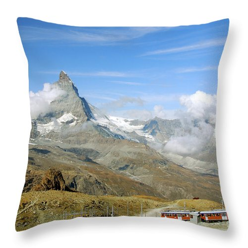 Photography Throw Pillow featuring the photograph To The Summit by Ivy Ho