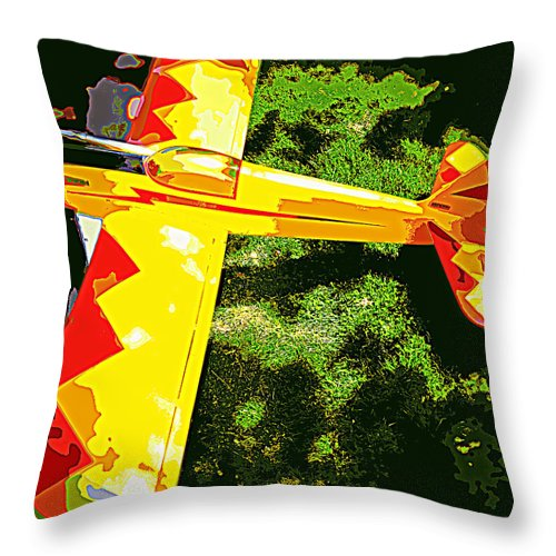 Air Plane Throw Pillow featuring the photograph Toby Toy 1 by Diane montana Jansson
