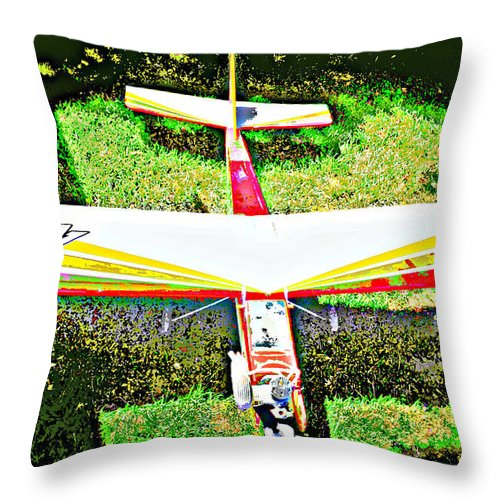 Airplane Throw Pillow featuring the photograph Toby Toy 4 by Diane montana Jansson