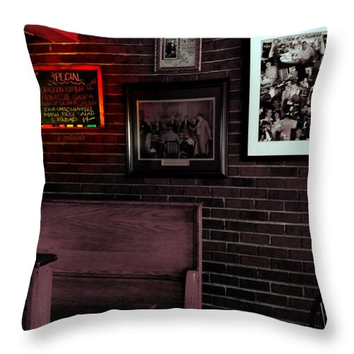 Food Throw Pillow featuring the photograph Today's Special by Chris Berry