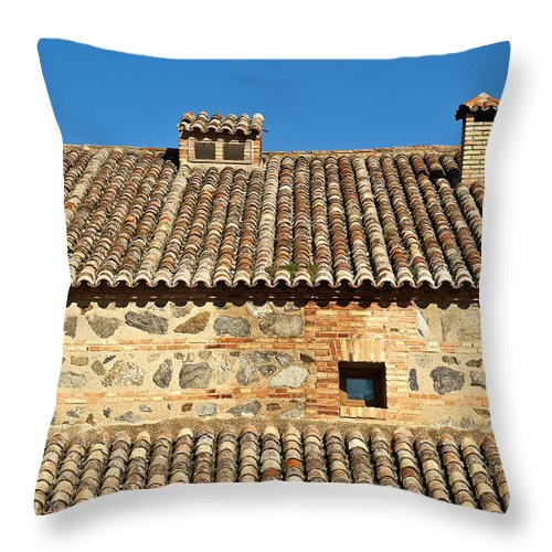 Spain Throw Pillow featuring the photograph Toledo Terra Cotta by John Greim